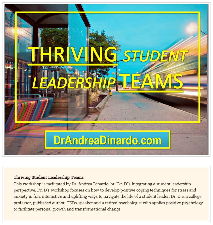THRIVING TEAMS Dr. Andrea Dinardo