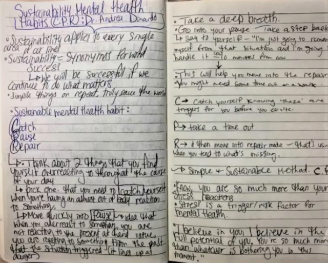 KIARA CLEMENT SRC President C.P.R. Writing Journal